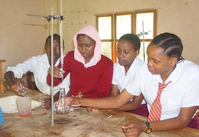 usangi_girls_school_chemistry_Students 2018