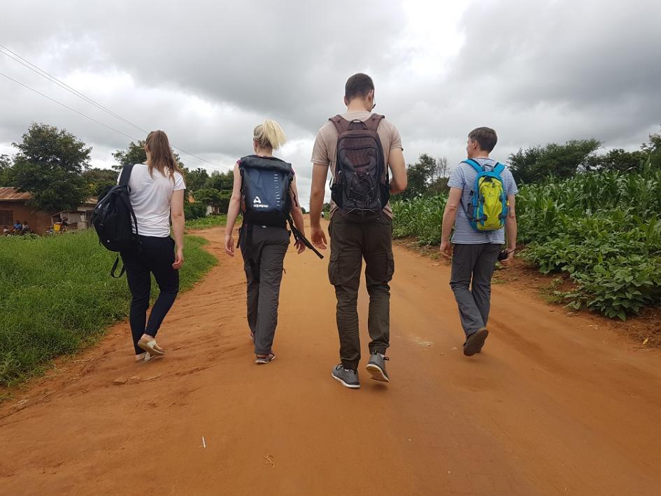 Teammitglieder der Eckart Schwerin-Stiftung/ Reise 2018 - von hinten