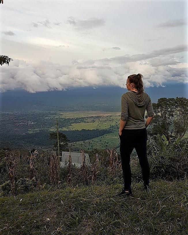 Aussicht von Mtii/Tansania ins Tal 2018