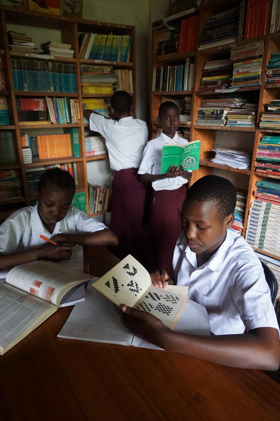 Usangi Girls Secondary School Bibliothek alt
